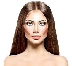 make up woman face contour and highlight makeup professional c