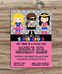 superheroes birthday party invitations boy and girl superheroes twins joint party custom digital birthday