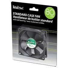 fan pc. retail plus 80mm pc case cooling fan pc