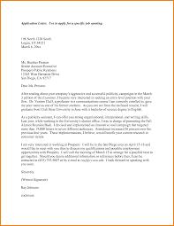 Cover Letter Sample For Applying For A Job Template Cover Letter