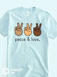Diy T Shirt Designs Pinterest This Peace Love Peace Sign Hand Emoji Design Is The