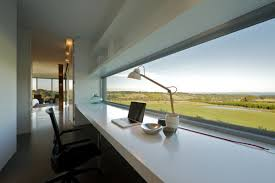 great office design. Great Office Decorating Ideas For Men Creation : Brilliant Design Modern Style Desk Overlooing