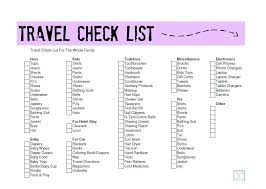 Packing List For Summer Vacation Printable Vacation Packing List Summer Holiday Travel Check