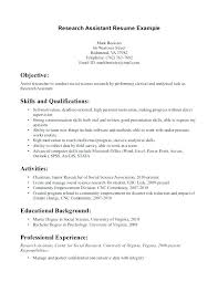 Psychology Resume Objective Custom Clinical Research Resume Format Listing Skills A Example Unique