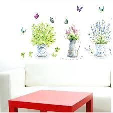 wall stickers home decor potted flower pot erfly kitchen window glass bathroom decals waterproof