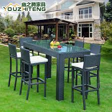 teng secluded outdoor tall bar tables