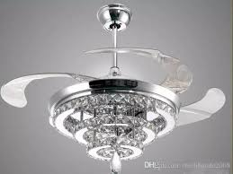 ceiling fans led crystal chandelier fan lights invisible fan crystal lights living room bedroom restaurant modern ceiling fan 42 inch with