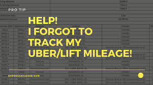 Track Mileage Heres What You Should Do If You Forgot To Track Your