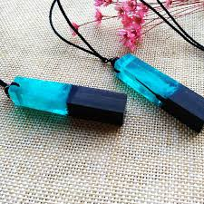 Image result for wood resin necklace