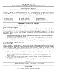 ideas of sample resume financial controller position on service