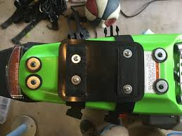 the klx140g th adventure rider the light tucks up nice under the fender i drilled a hole here to pull the wire through