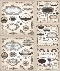 ornate decorative frames and elements