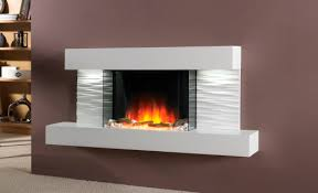 Electric fireplace / contemporary / closed hearth / wall-mounted - ADOR