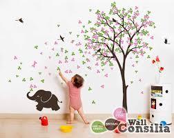 elephant tree wall decal