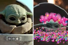 Yoda is a green coloured dwarf size creature, with big ears and eyes. Baby Yoda Sipping Soup Is A Meme And Its 100 Funny And 200 Adorable