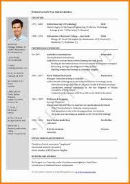 6 Cv In English Template Theorynpractice