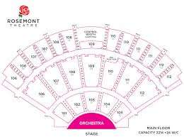Theatre At The Center Munster Seating Chart Seating Tickets Events Rosemont Theatre