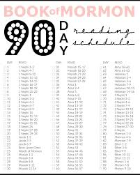 Book Of Mormon Reading Chart Printable Printable Book Of Mormon 90 Days Reading Chart Miss