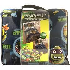 nickelodeon teenage 5 piece bedding set mutant ninja turtle twin bed in a bag