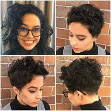 Curly Short Hair Style pixie cut with undercut for thick curly hair pixie cuts 4330 by wearticles.com