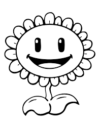 Small Picture Plants Vs Zombies Sunflower Coloring Page H M Coloring Pages