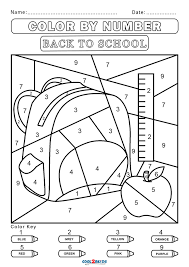 Welcome to our printable color by numbers sheets. Free Color By Number Worksheets Cool2bkids