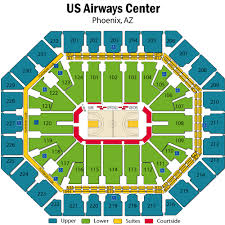 Uncommon Suns Seating Chart Us Airways Phoenix Suns Seating