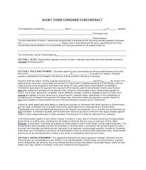 Contract Forms For Construction Need A Subcontractor Agreement 39 Free Templates Here