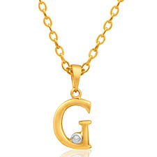 9ct yellow gold pendant initial g set with diamond 10002215 jewellery shiels jewellers