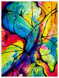 abstract wall art ideas diy fluid watercolor abstract on canvas