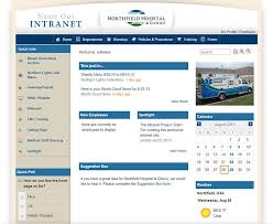 Sharepoint Website Example Healthcare Intranet Example Northfield Hospital Clinics