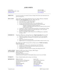 Resume For Entry Level Program Manager