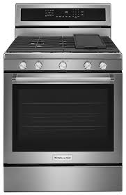 kitchenaid 30 inch 5 burner gas convection range stainless steel