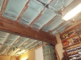 garage ceiling insulation. Unique Insulation Garage Ceiling With Newly Installed Spray Foam Insulation In
