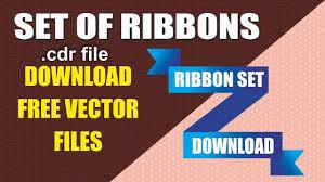 Corel Design Free Download Ribbon Vector Set Free Download With Cdtfb Corel Draw