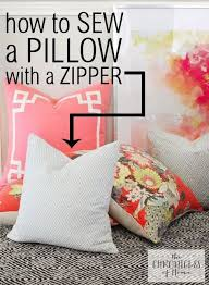 Sew Zipper Pillow Cover