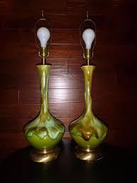 southwestern table lamps fresh pr vtg mid century drip glaze genie style ceramic table lamps green