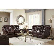 Dual furniture Dual Function Sabine Living Room Dual Reclining Sofa Loveseat Xw9357 Value City Furniture Sabine Reclining Brown Living Room Man Wah Xw9357 Conns
