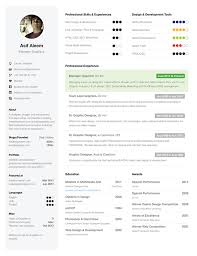 One Page Resume Template New Simple And Clean One Page Resume Template On Behance