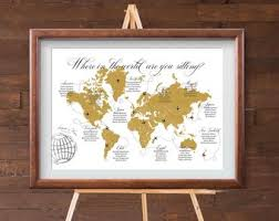 Map Seating Chart Wedding Destination Wedding Seating Chart Printable Usa Map Table Etsy