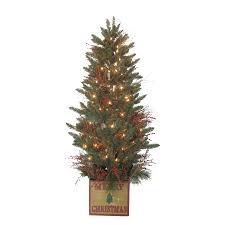 Holiday Living 5-ft 392-Count Pre-Lit Aspen Fir Artificial Christmas Tree
