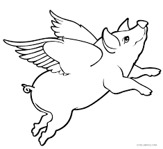 Olivia The Pig Coloring Pages Flying Free