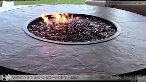 viento round fire pit table