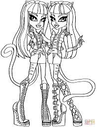 Small Picture Monster High Color Pages Monster High Coloring Pages 72 Online Toy