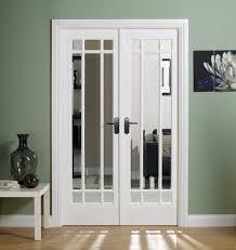 w4 manhattan white primed glazed clear bevelled glass