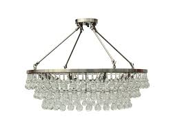 celeste flush mount glass drop crystal chandelier brushed nickel
