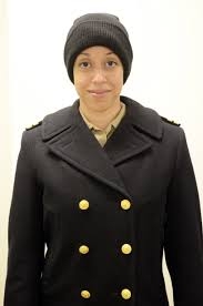 a u s navy officer wearing a traditional peacoat us navy photo