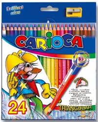 Набор <b>цветных карандашей</b> Universal Carioca Triangular 24 шт ...