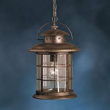 kichler rustic 1775 in rustic outdoor pendant light