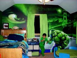 Hulk Theme Wallpaper Ideas For Kids Bedroom